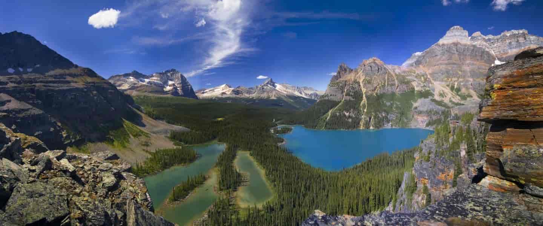 Lake Ohara i Alberta Canada