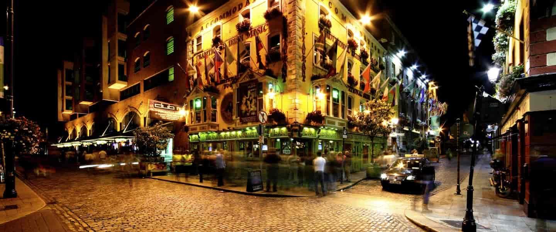 Temple Bar Street i Dublin, Irland