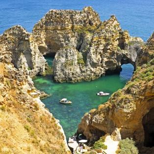 Naturlige klipper nær Lagos - Portugal - Risskov Rejser