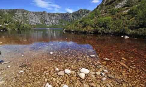 Alpine Lake Cradle Moutain - Risskov Rejser