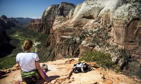 Angels Landing i Zion National Park - Rejser til USA - Risskov Rejser