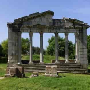 Apollonia ruinen i Albanien