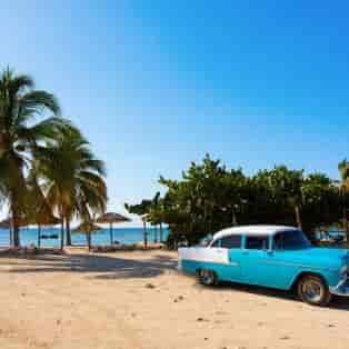 Klassiske amerikaner biler ses overalt på Cuba.