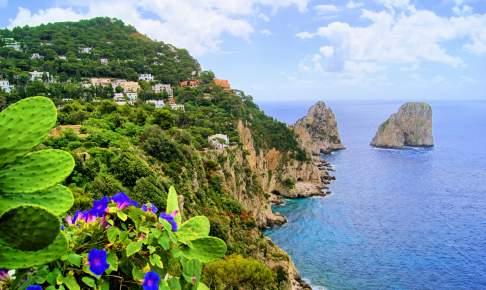 Klippeøen Capri i Napoli-bugten - Risskov Rejser