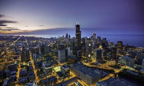 Chicago om aftenen - Risskov Rejser