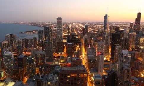 Chicago Skyline i USA - Risskov Rejser