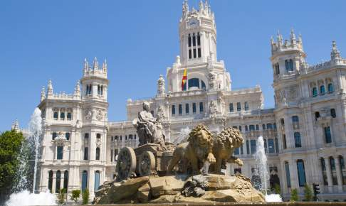 Plaza Cibeles i Madrid