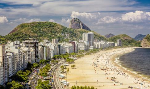 Copacabana-stranden i Rio de Janeiro - Risskov Rejser