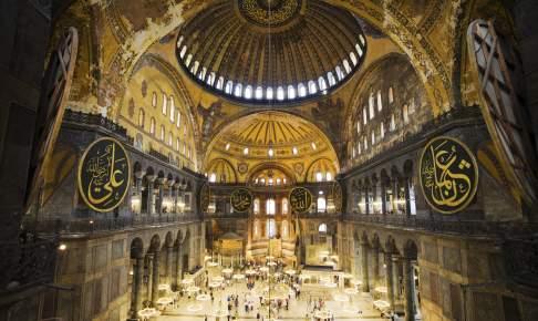 Hagia Sophia, en af seværdighederne på rundrejsen Sultanernes Istanbul med dansk rejseleder