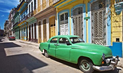 En af Cubas flotte gader i Havana - Risskov Rejser
