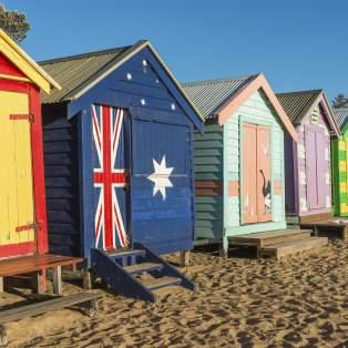 Hytter på Brighton Beach i Melbourne