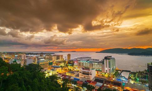 Udsigt over Kota Kinabalu - Risskov Rejser