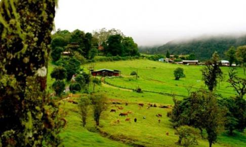 Lokalt landsbrug i området ved Poás Volcano Nationalpark