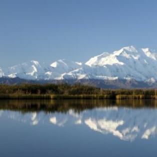 Denali, som tidligere hed Mount McKinley.