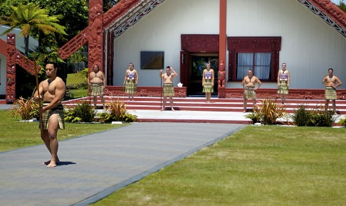 Maori velkomst i Rotorua