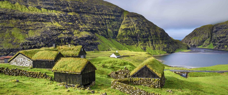 Smuk natur ved Saksun på Færøerne