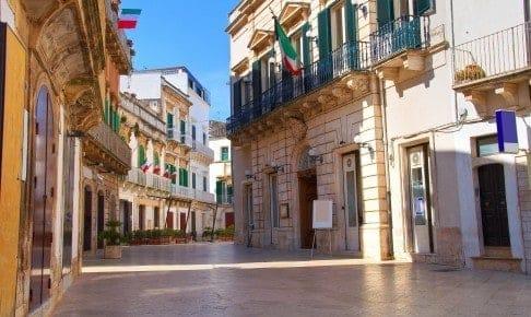 Smøge i Martina Franca i Syditalien