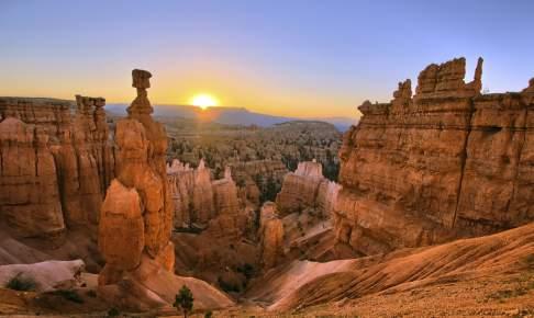 Solopgang i Bryce Canyon i USA