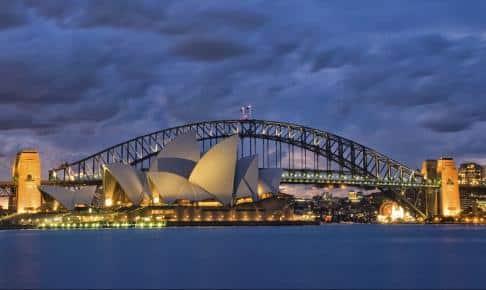 Sydney om aftenen - Risskov Rejser