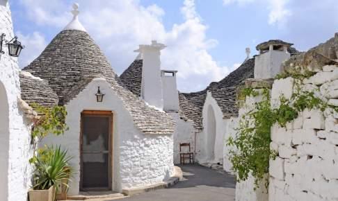 Trullihuse i byen Alberobello
