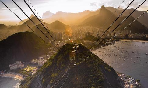 Udsigt fra Sugarloaf Mountain i Rio - Risskov Rejser
