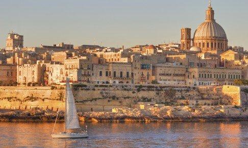 Udsigt over den smukke by Valletta