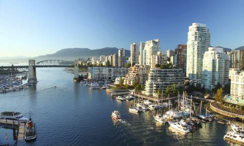 Udsigt over Vancouver, Canada - Risskov Rejser