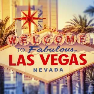 Velkomstskilt i Las Vegas, USA - Risskov Rejser