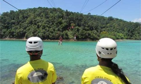 Zipline-tur i Tunku Abdul Rahman marinpark - Risskov Rejser