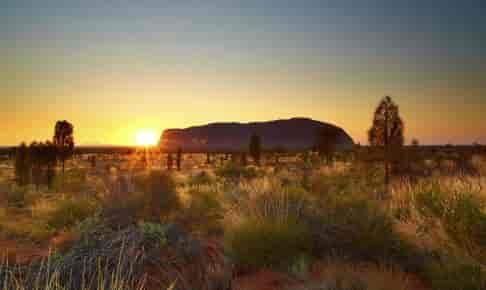 Solnedgang over Ayers Rock, Australien - Risskov Rejser