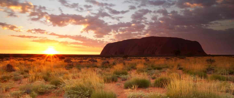 Solopgang ved Ayers Rock - Australien - Risskov Rejser