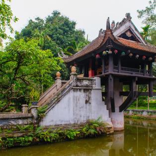 En-søjle-pagoden Hanoi