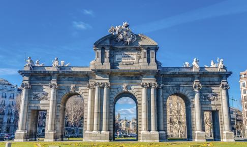Alcala-porten i Madrid