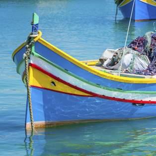 Fiskerbåde i Marsaxlokk, Malta - Risskov Rejser