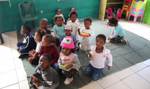 På besøg i børnehave