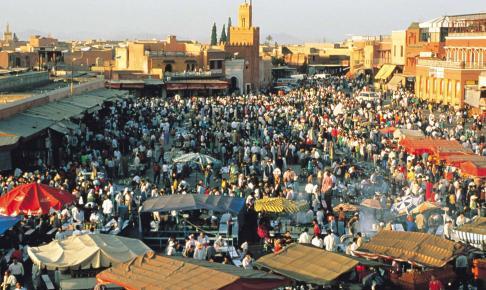 Jeema El Fna-pladsen i Marrakech - Risskov Rejser