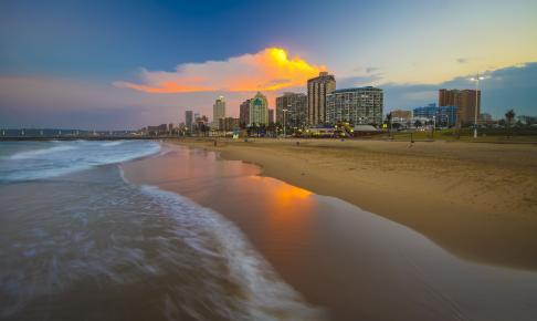 Smuk strand i Durban - Sydafrika - Risskov Rejser