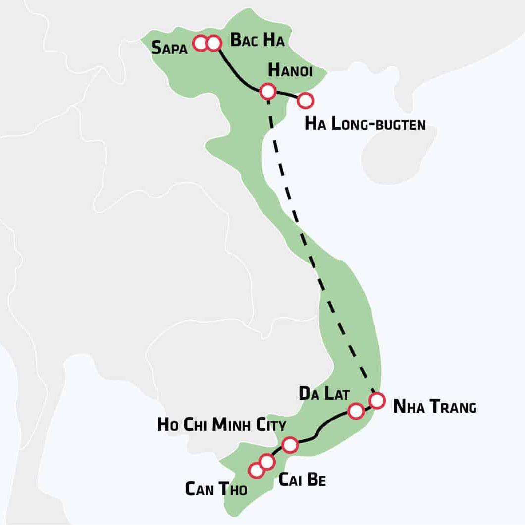 Fascinerende Vietnam - fra Sapa til Mekong 17 dages rejse til Vietnam med Risskov Rejser Afrejse den: 14-03-2018 Afrejselufthavn: Billund