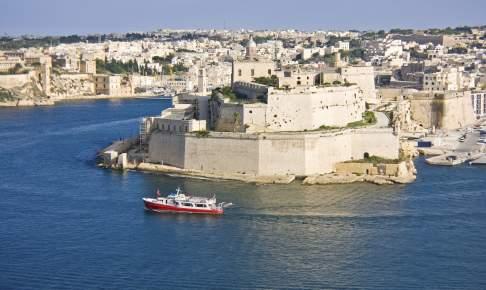 Havnen i Valletta på Malta
