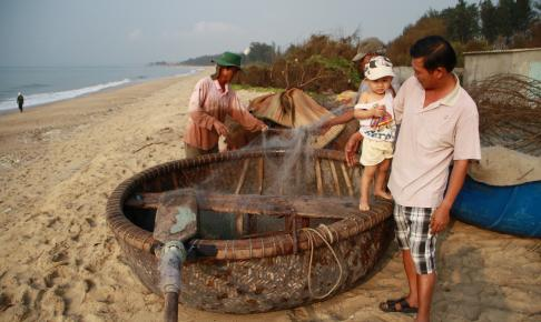 Lokale fiskere i Phan Thiet - Vietnam - Risskov Rejser