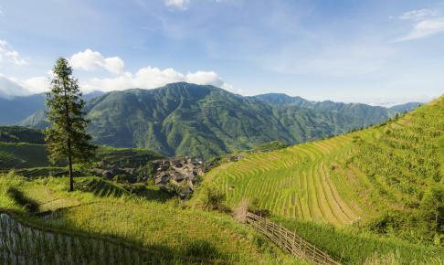 Landskab ved Guilin