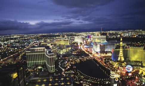 Udsigt over The Strip - Las Vegas - Risskov Rejser