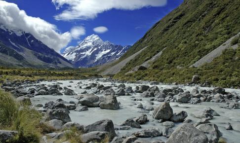 Mount Cook National Park hvor New Zealands højeste bjerg ligger - Risskov Rejser