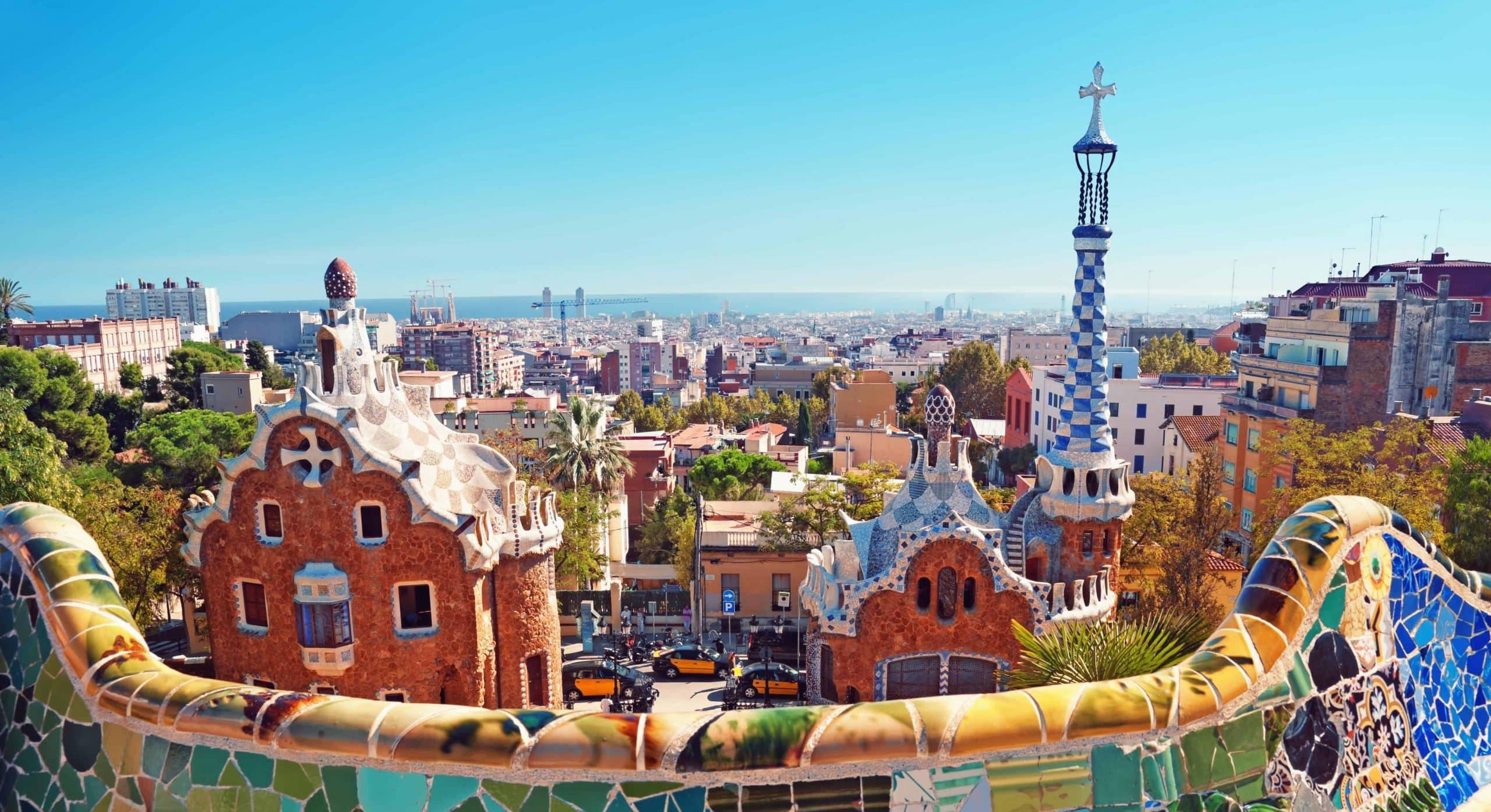 Udsigt over Barcelona fra Park Güell