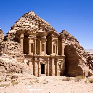 Oldtidsbyen Petra i Jordan - et af højdepunkterne på rundrejsen i Jordan og Israel