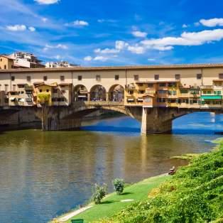 Ponte Vecchio broen i Firenze, Italien