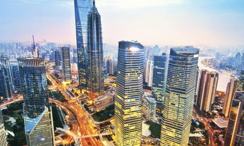 Shanghai om aftenen