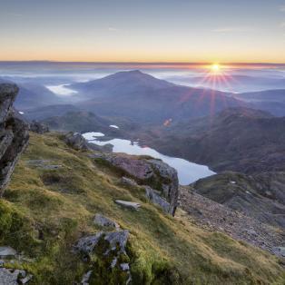 Snowdonia National Park i Wales