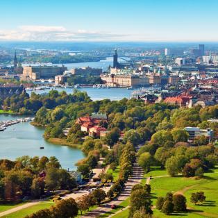 Panorama udsigt over Stockholm, Sverige - Risskov Rejser
