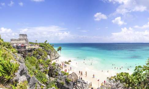 Stranden i Tulum Mexico